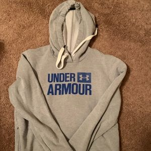 UA - Grey hoodie with blue letters